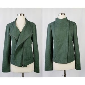 Vince Textured Knit Asymmetric Jacket, M